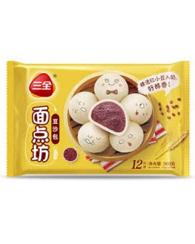 Painici cu pasta dulce de fasole rosie 360g 豆沙包